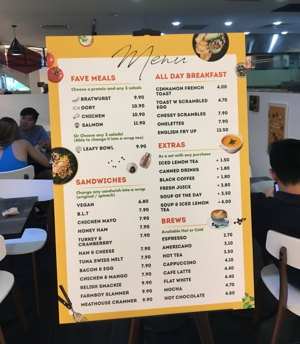 Munch Saladsmith Menu