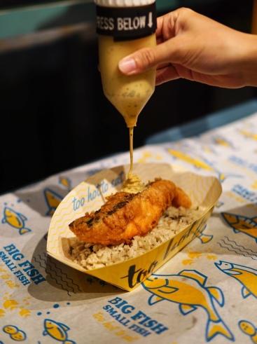 Big Fish Small Fish Salmon Mushroom Rice
