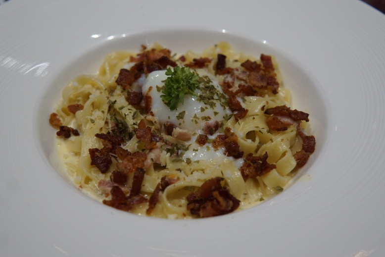 Cowboys & Anchors Signature Fettuccine Carbonara